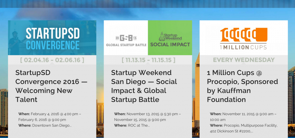 Creators.ink Startup San Diego Community Website and Tech Scene Innovation Economy StartupSD Events Calendar