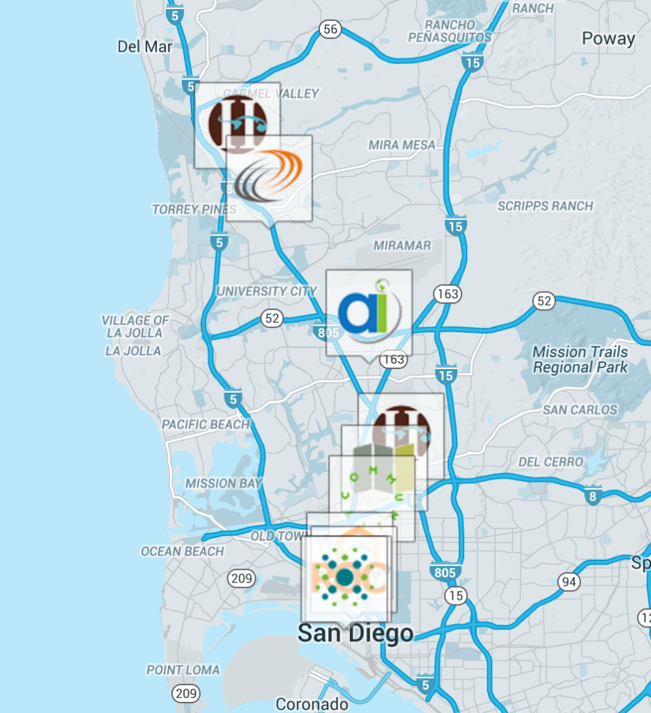 Creators.ink Startup San Diego Community Website and Tech Scene Innovation Economy StartupSD Map