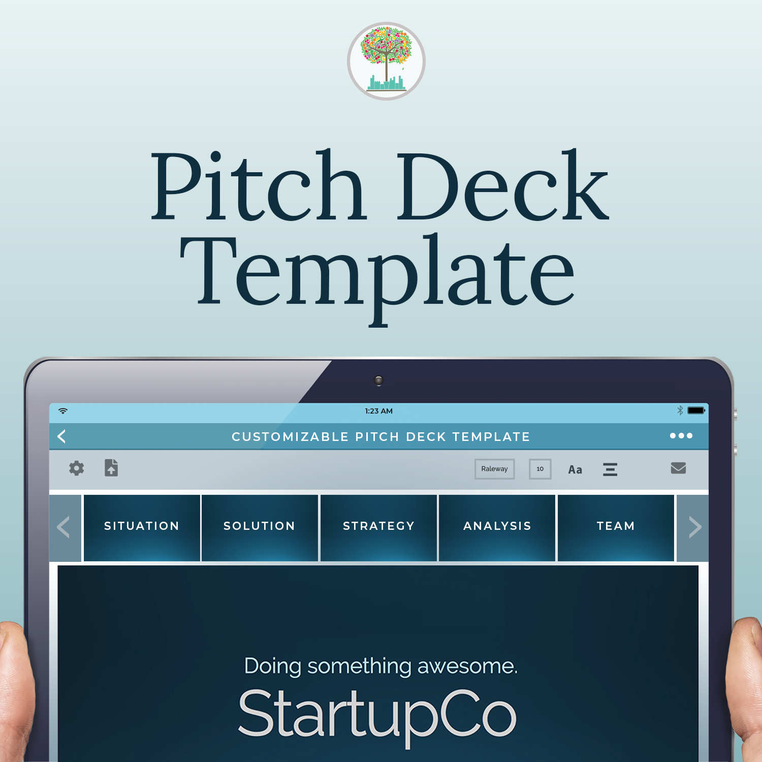 Pitch deck template creatorsk building creatively in the city pitch deck template flashek Image collections